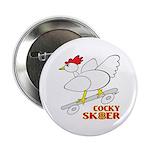 "Sk8er Rooster 2.25"" Button (10 pack)"