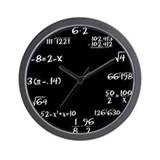 Math Wall Clocks
