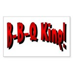 B-B-Q King Rectangle Sticker