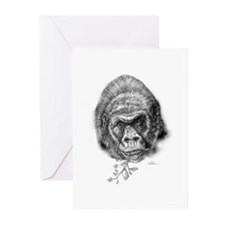 Cute Gorilla sketch Greeting Cards (Pk of 10)