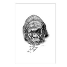 Cute Gorilla sketch Postcards (Package of 8)