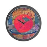 Holiday Apple Wall Clock