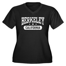 Berkeley California Women's Plus Size V-Neck Dark