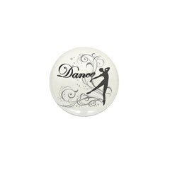 Dance - scroll Mini Button (10 pack)