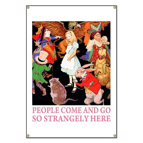 PEOPLE COME & GO Banner