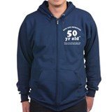 50th Birthday Gag Zip Hoodie