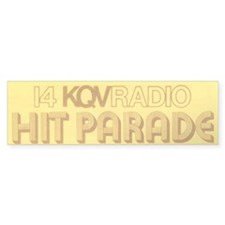 KQV Hit Parade Bumper Car Sticker