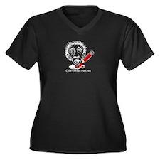Color Outside Women's Plus Size V-Neck Dark T-Shir