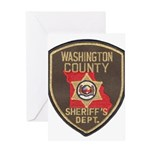 Washington County Sheriff Greeting Card