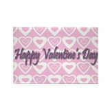 Happy Valentine's Rectangle Magnet (10 pack)