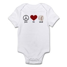 Peace, Love, Baseball Infant Bodysuit