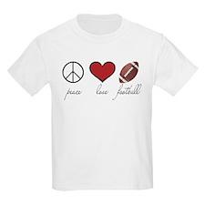 Peace, Love, Football T-Shirt