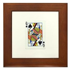 Queen of Spades Framed Tile