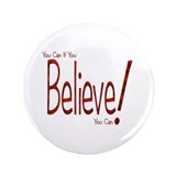 "Believe! (Red) 3.5"" Button (100 pack)"