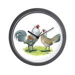 Ameraucana Chicken Pair Wall Clock
