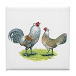 Ameraucana Chicken Pair Tile Coaster