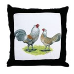 Ameraucana Chicken Pair Throw Pillow
