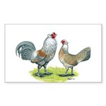 Ameraucana Chicken Pair Rectangle Sticker 10 pk)