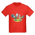 Ameraucana Chicken Pair Kids Dark T-Shirt