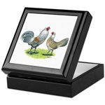 Ameraucana Chicken Pair Keepsake Box