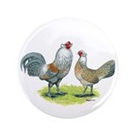 "Ameraucana Chicken Pair 3.5"" Button (100 pack"