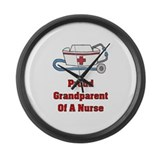 Proud Grandparent Large Wall Clock