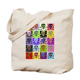 Colorful Skull &amp; Crossbones Tote Bag