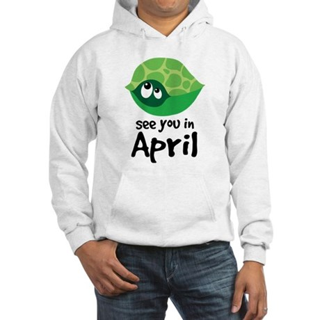 April Turtle Baby Announcement Hooded Sweatshirt