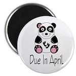 April Due Date Panda Magnet