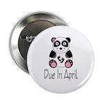 """April Due Date Panda 2.25"""" Button"""