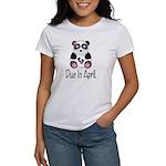 April Due Date Panda Women's T-Shirt