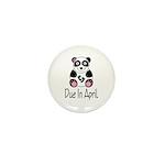 April Due Date Panda Mini Button