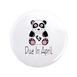 """April Due Date Panda 3.5"""" Button"""