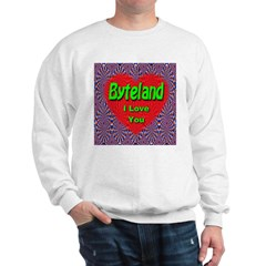 Byteland I Love You Sweatshirt