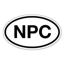 NPC Oval Decal