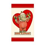 LOVE Eddie Elephant Rectangle Sticker 10 pk)