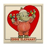 LOVE Eddie Elephant Tile Coaster