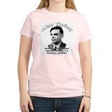 Alan Turing 01 Women's Pink T-Shirt