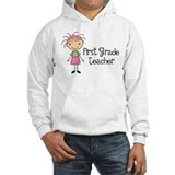 1st Grade Teacher Stick Figure Jumper Hoody