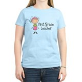1st Grade Teacher Stick Figure T-Shirt