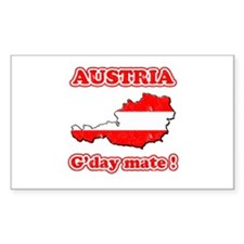 Austria - g'day mate Rectangle Decal