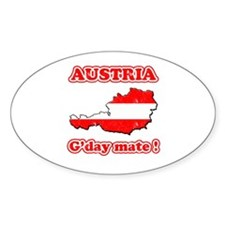 Austria - g'day mate Oval Decal