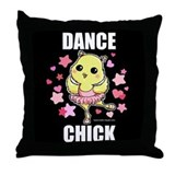 DANCE CHICK Throw Pillow