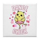 DANCE CHICK Tile Coaster