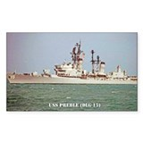 USS PREBLE Rectangle Sticker 10 pk)