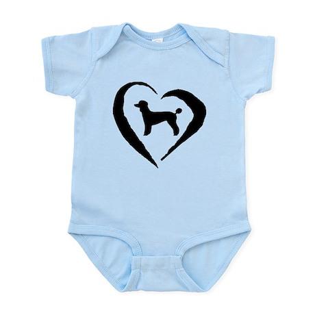 Poodle Heart Infant Bodysuit