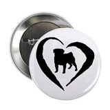 "Pug Heart 2.25"" Button (100 pack)"