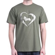 Mini Dachshund Heart T-Shirt