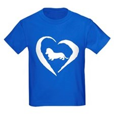 Mini Dachshund Heart T