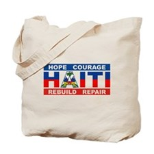 Hope Courage Haiti Tote Bag